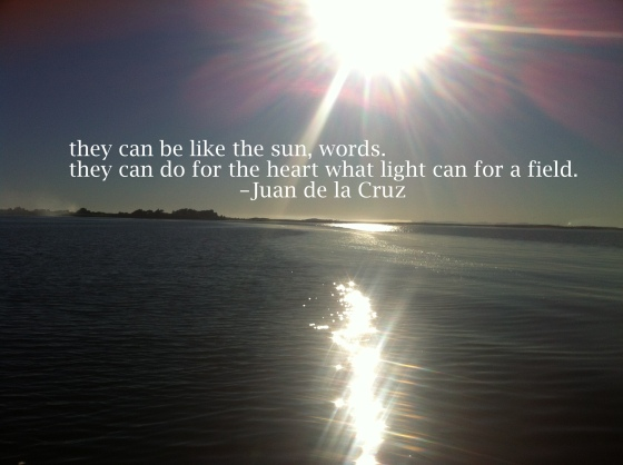 like the sun/insight from a woman's heart