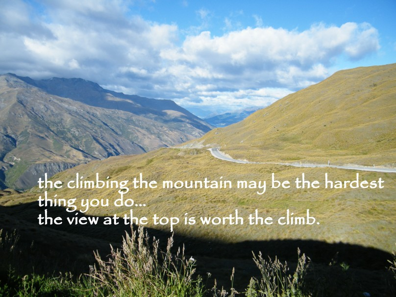 climbing may be the hardest thing you do…the view is worth the climb