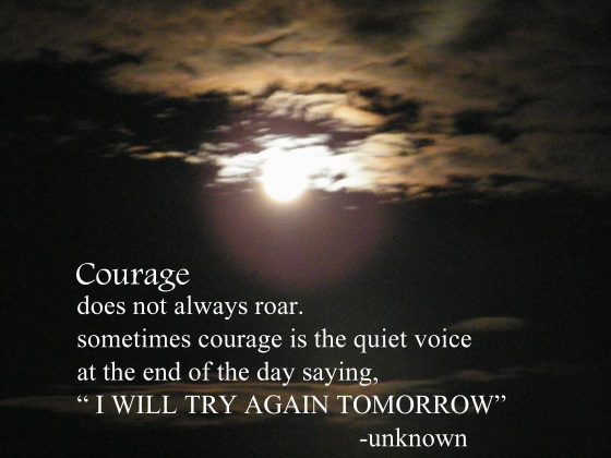 courage/insight from a woman's heart