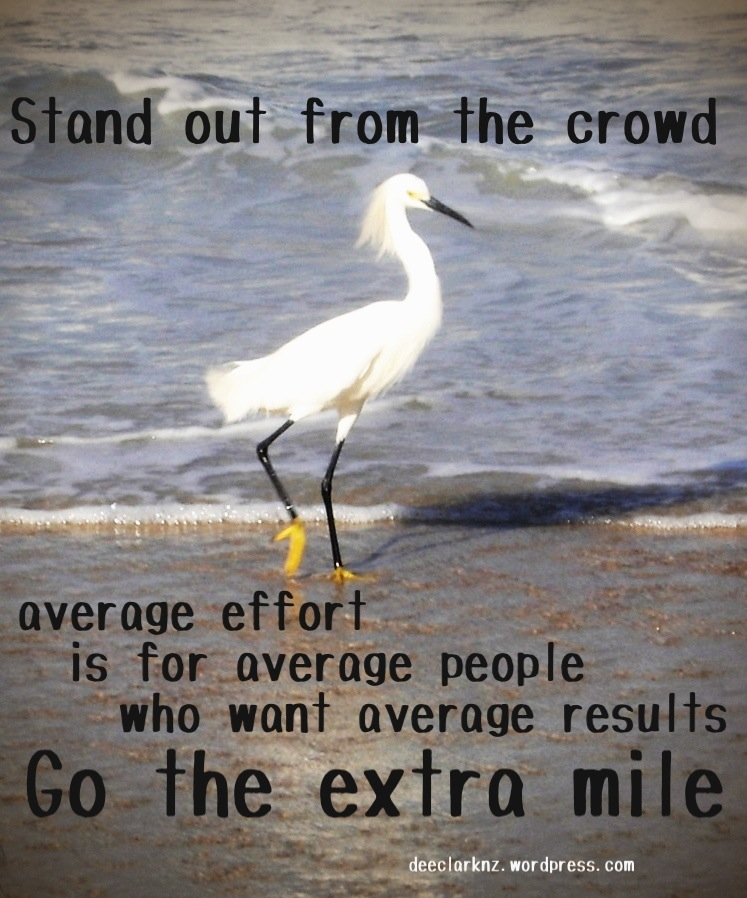 stand out from thecrowd