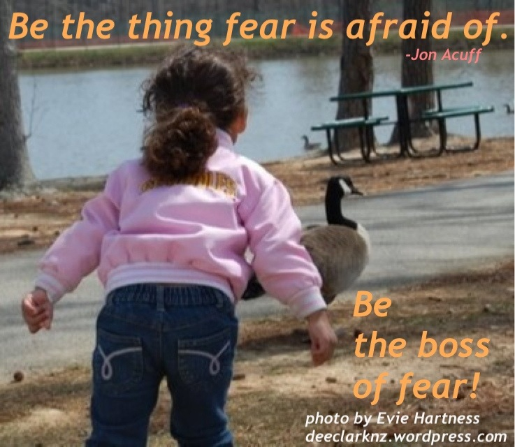 be the thing fear is afraid of