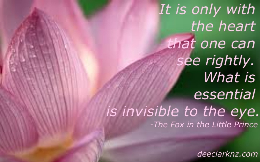what is essential is invisible