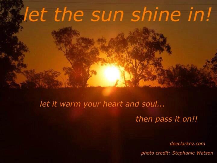 let the sunshinein