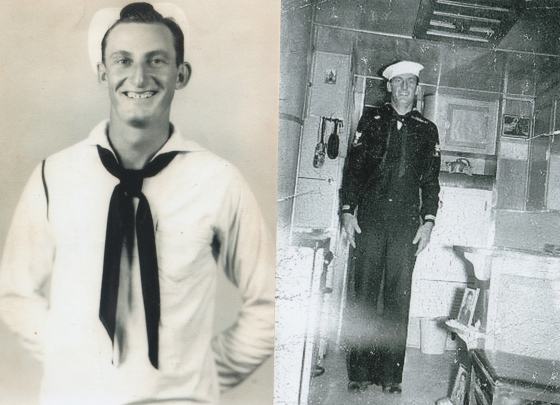 my grandfather, Benny Hartness, of the US Navy WWII